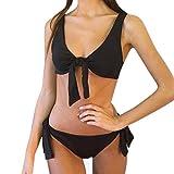 KIMODO Mode Damen Bikinis Bikini-sets Schwarz Rot Bademode Push-up gepolsterte feste Bandage Badeanzug Bikinioberteil