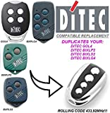 Ditec GOL4 compatible mando a destancia, 433,92Mhz rolling code CLON, 4-canales reemplazo transmisor Al mejor precio!!!