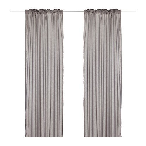 IKEA VIVAN Gardinenpaar in grau; (145x300cm)