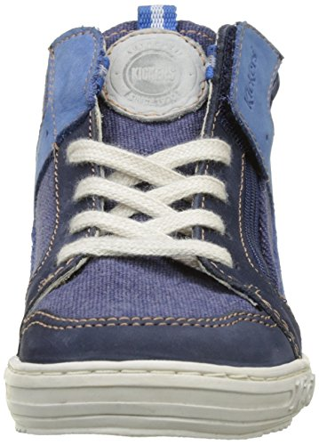 Kickers Jungen Jargon Hausschuhe Blau (Marineblau)