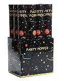 6 x XL Party Popper Partyknaller Konfettikanone Konfetti-Shooter 40cm