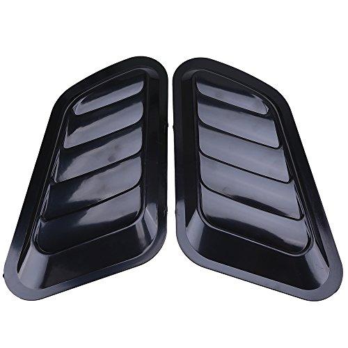 POSSBAY 2pcs Auto Lufteinlass Air Flow Dekor ABS DIY Aufkleber Schwarz