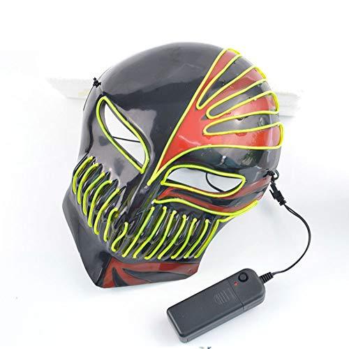 Edelehu Sensenmann LED Leuchtende Maske Halloween-Maske Scary Gruselige Horror Cosplay Kostüm Bandana Mehrbereichseinstellung Der Beleuchtung