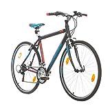 BIKE SPORT LIVE ACTIVE Trekkingfahrrad Cross Fahrrad Herren 28 Zoll Bikesport Route Aluminium Rahmen, Shimano 21 Gang (Schwarz Matt, L- 56 cm)