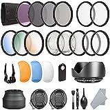 rorytory 52mm DSLR UV CPL FLD Objektiv Filter Licht Diffusor Reinigung Tools & Kamera Zubehör Set