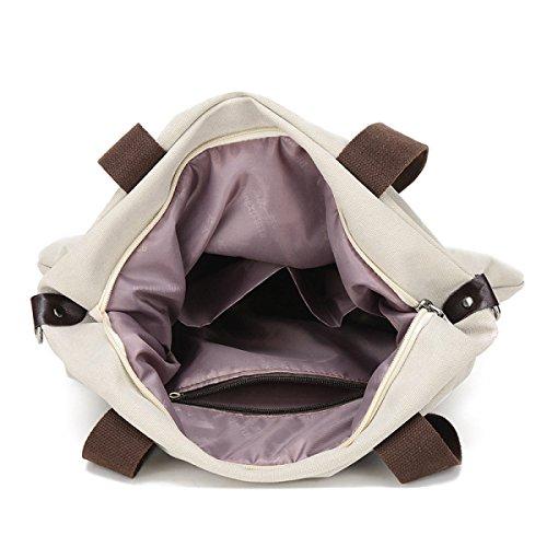 Literatur Damen Große Kapazität Leinwand Licht Wearable Atmungsaktiv Einzelne Schultertasche Handtasche Grey