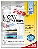 Zero In Moth Killer Strips Odour Free 20 Strips Kills Moths & Eggs