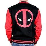 Deadpool Deadpool - Logo Giacca college nero/rosso XL