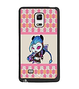 PrintDhaba Cartoon D-2749 Back Case Cover for SAMSUNG GALAXY NOTE 4 EDGE (Multi-Coloured)