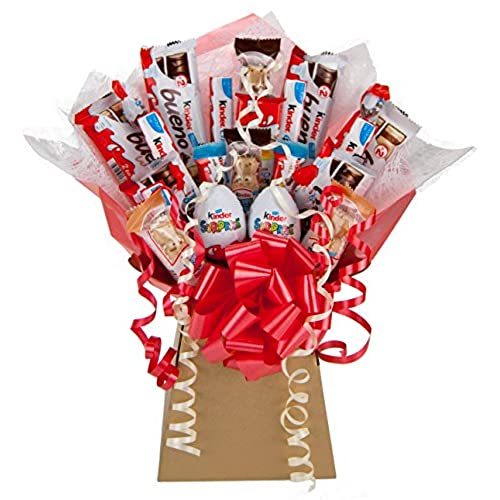 Easter gifts for her amazon kinder large chocolate bouquet 25 piece tree explosion gift hamper selection box perfect gift negle Gallery