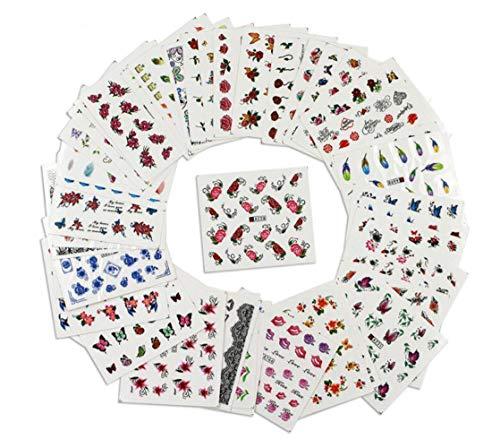 50 hojas pegatinas manicura decoración uñas diseño