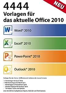 Vorlagen für Office 2010
