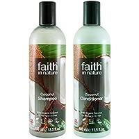 Faith In Nature Coconut Shampoo 400ml & Conditioner 400ml Duo