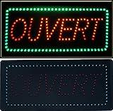 Enseigne lumineuse à LED Ouvert rouge/vert 48x24x2.5cm