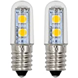 MENGS® 2 Stück E14 LED Lampe 1W AC 220-240V Warmweiß 3500K 7x5050 SMD