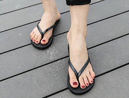 Sentao Donna Casuale Infradito Flip Flops Scarpe da Piscina Ciabatte Nero