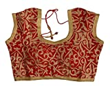 Style Mantra Designer Red Stitched Velve...
