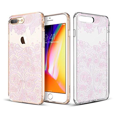 ESR iPhone 8 Plus Hülle, Weiche TPU Rahmen, Hartem PC Rückdeckel [Paisley Muster] Schutzhülle für Apple iPhone 8 Plus 5.5 Zoll 2017 Freigegeben.