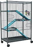 Zolux Käfig für Chinchillas/Frettchen blau 72x 43x 107cm