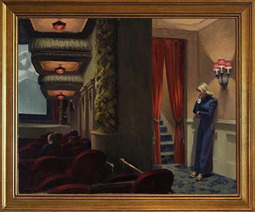 Berkin Arts Klassisch Rahmen Edward Hopper Giclée Leinwand Prints Gemälde Poster Wohnkultur Reproduktion(Neu Yorker Film) #JK - Express-film-poster
