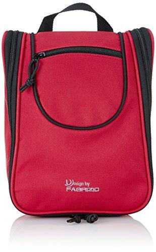 Fabrizio Trousse de toilette, rouge - Feuerrot/Schwarz, 10194-0201
