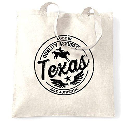 Made in Texas Austin Houston Dallas NASA Seaworld Distressed Sacchetto Di Tote White