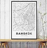 shiyusheng Bangkok Map Poster und Drucke, Thailand Travel