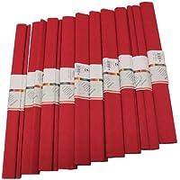 Staufen 617162 - Krepppapier 10 Rollen 50 x 250 cm, rubinrot