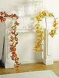Heitmann DECO Herbst-Girlande mit Ahorn-Blättern in rot/orange - Deko-Girlande mit Herbst-Laub - Kunststoff-Blätter - 3