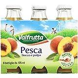 Valfrutta - Pesca, Succo e Polpa, 6 x 125 ml