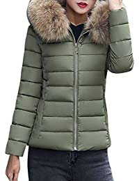 Reaso Femmes Parka Hiver Doudoune Chaud Cardigan Mode Pullover Elegant  Manteau Solide Pardessus Blouson Manteau Manches f4e8ae1327f0