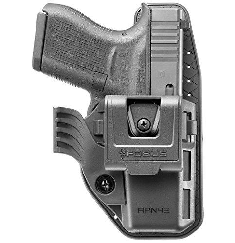 Fobus Neu APN verdeckte Trage IWB Im Inneren der Gürtel Holster mit retention Einstellung & Rotations- Gürtelclip für Glock 43 linke und rechte Hand -
