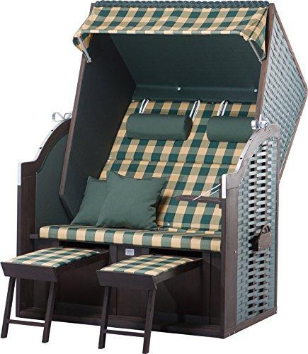 Strandkorb Sylt PE green Dessin 353