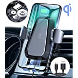 VANMASS Wireless Car Charger Mount, Auto Clamping Motorized Phone Holder, Qi Fast Charging Air Vent 10W for Samsung S10 S10+ S10e Note 9 S9 + S8 S7 S6 Edge, 7.5W for iPhone XR XS Max X 8 Plus, etc