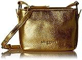 Liebeskind Berlin Damen Microsss Heavym Umhängetasche, Metallic Bright Gold, 8x15x18 cm