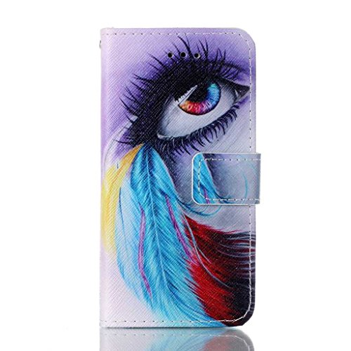 Wallet Case Coque pour Apple iPhone 5 / 5S / SE,Yihya PU Cuir Etui Housse Magnetic Closure Flip Bookstyle Portefeuille Stand Cover avec Card Slots&Strap + Stylus--Style 03 Style 03