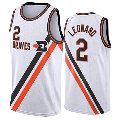 Kawhi Leonard 2# Männer Basketball Jersey, Los Angeles Clippers Retro Saison Uniform, NBA Swingman Ärmel Unisex, XS-XXL (Color : White, Size : XXL)