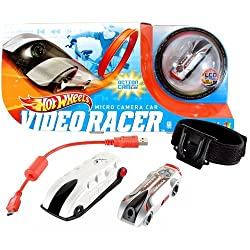 Hot Wheels Year 2011 Video Racer Micro Camera Car Playset With Silver Protective Action Case, Silver Car With Built In Lcd Screen On Back, Red Usb Cable, 4 Mounting Brackets, 2 Adhesive Strips And 1 Adjustable Strap (W6721)