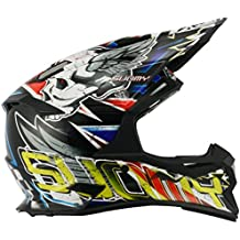 Suomy Casco Motocross Alpha, Skull Rojo, XL