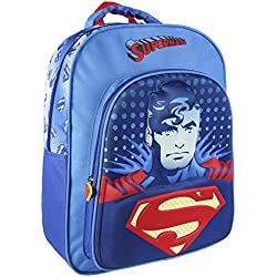 Batman vs Superman 2100001990 3D Mochila infantil, 41 cm, Azul