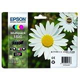 1x Original XL Tintenpatronen Set für Epson Expression Home XP 402 XP 405, C13T18164010 - BK, Cy, Ma, Ye - + 100 Blatt Ti-Sa Fotocards 10x15 cm 210g glossy