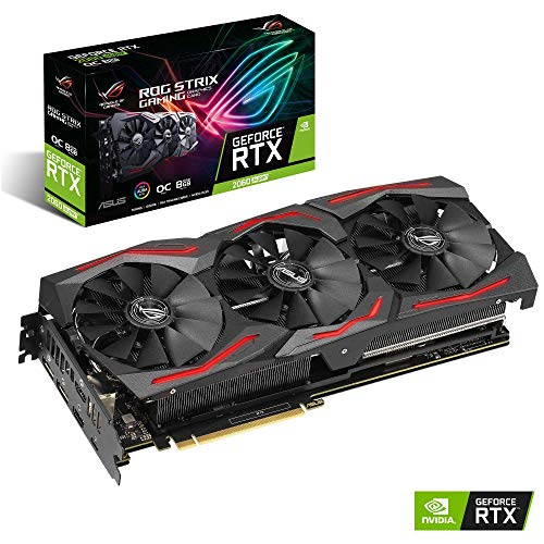 ASUS ROG Strix Nvidia GeForce RTX 2060S OC 8G Gaming Super Grafikkarte (PCIe 3.0, 8GB DDR6 Speicher, HDMI, Displayport, USB Type-C)