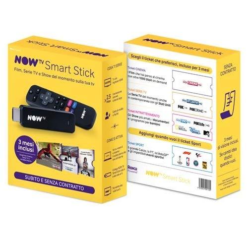 NOW TV Chiavetta Smart TV per Film/Serie TV/Show in HD-Live o On Demand, Disponibile per 2 Dispositivi