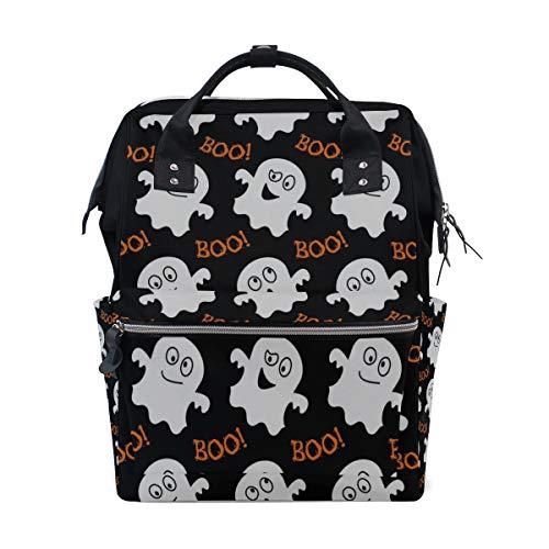Kühle Halloween Creep Fun Ghost Große Kapazität Wickeltaschen Mama Rucksack Multi Funktionen Windel Pflegetasche Tote Handtasche Für Kinder Babypflege Reise Täglichen Frauen
