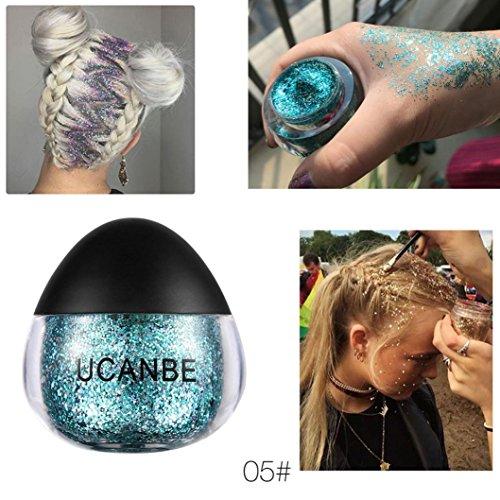 Sansee Makeup Glitzer Lidschatten Schimmern Pigment Lose Pulver (1PC * Schimmerpuder, E)