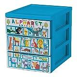 IRIS, Design Schubladencontainer / Rollwagen 'Style Chest Flat A5', 3 Schubladen 2 L, Plastik, 25,8 x 19,1 x 22 cm