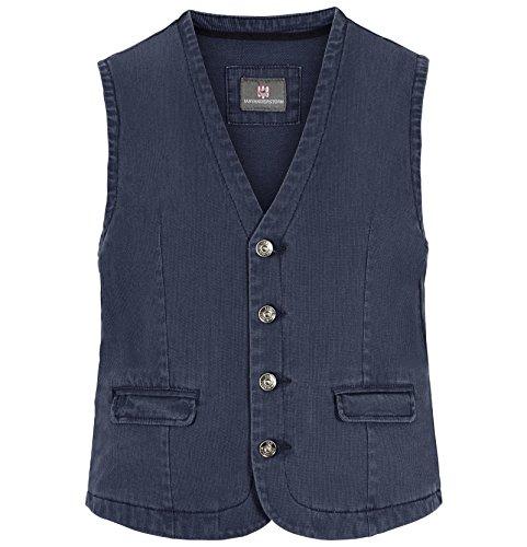 JAN VANDERSTORM Herren Weste TORELL in Übergröße. Große Größen in guter Qualität aus 100 % Baumwolle., , Blau