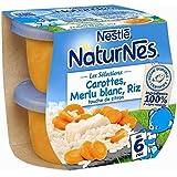 Nestlé naturnes carottes merlu blanc riz touche de citron 2x200g 6 mois - ( Prix Unitaire ) - Envoi Rapide Et...