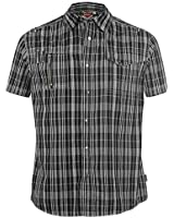 Lee Cooper Herren Kurzarm Hemd, kariert, verschiedene Farben, Gr. S-XXL