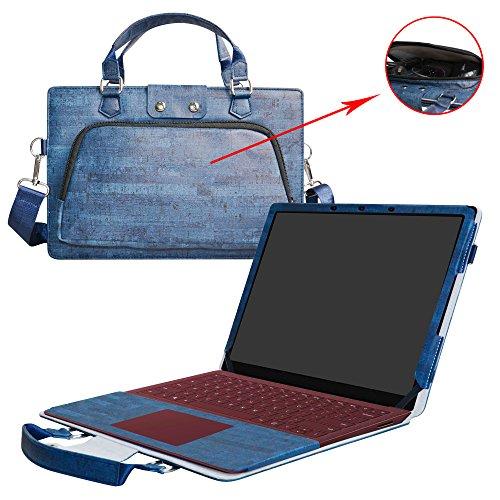 Surface Laptop Hülle,2 in 1 Spezielles Design eine PU Leder Schutzhülle + portable Laptoptasche für 13.5